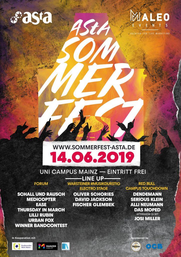 AStA Sommerfest 2019 - Event Flyer
