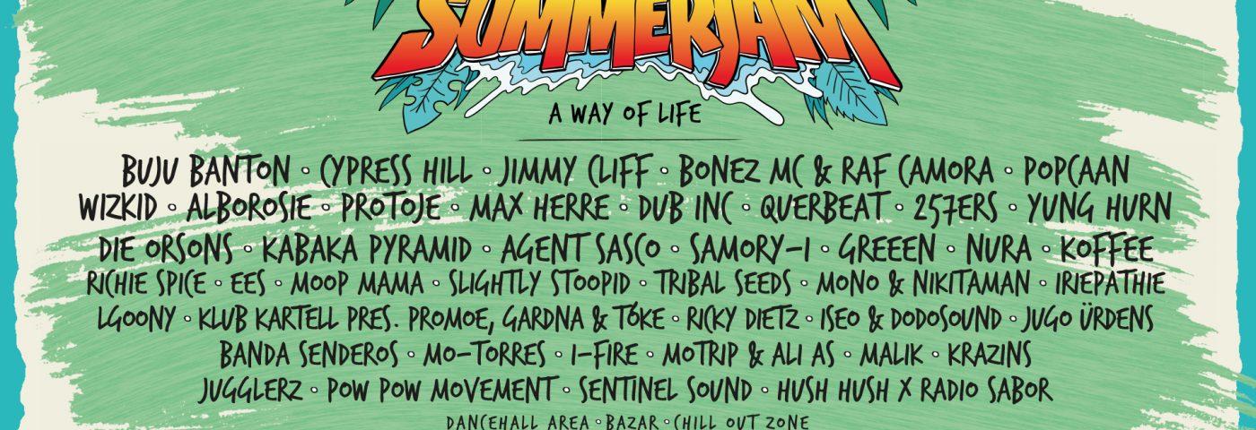 Summerjam 2019 - LineUp